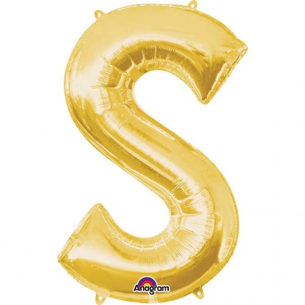 XXL Buchstabe S Gold