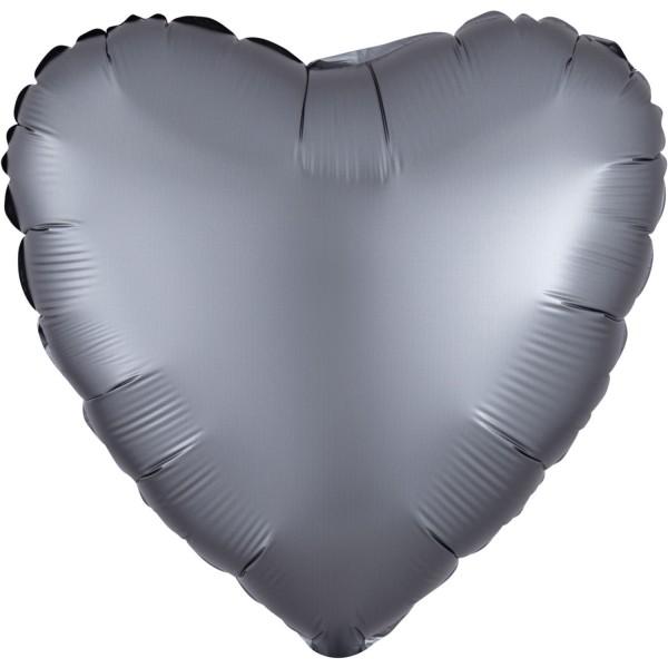 Herz Satin Silber Matt