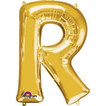 XXL Buchstabe R Gold