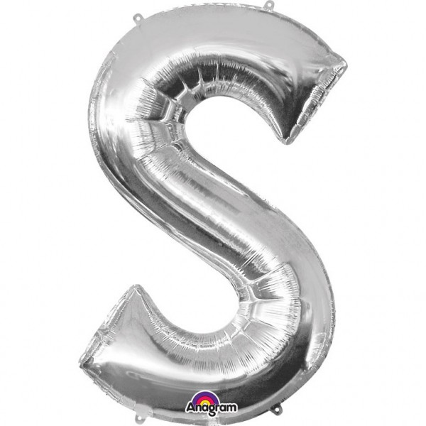 XXL Buchstabe S Silber